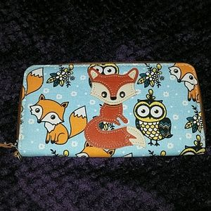 Fox and Owl print Wallet.